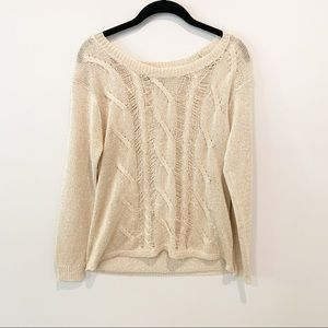 Rock and Republic Gold Sparkly Sweater